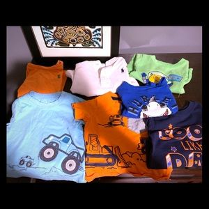 7 different 12month size boy shirts.